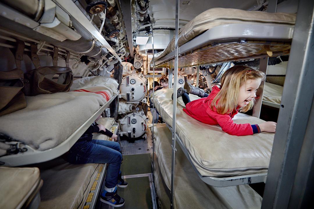 Slapen in een onderzeeboot