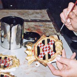 Wapenschild gemaakt in de Goudhoek